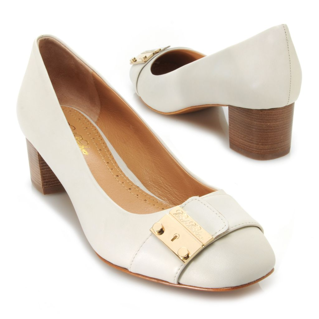 714-639 - Brooks Brothers® Leather Slip-on Low Heels
