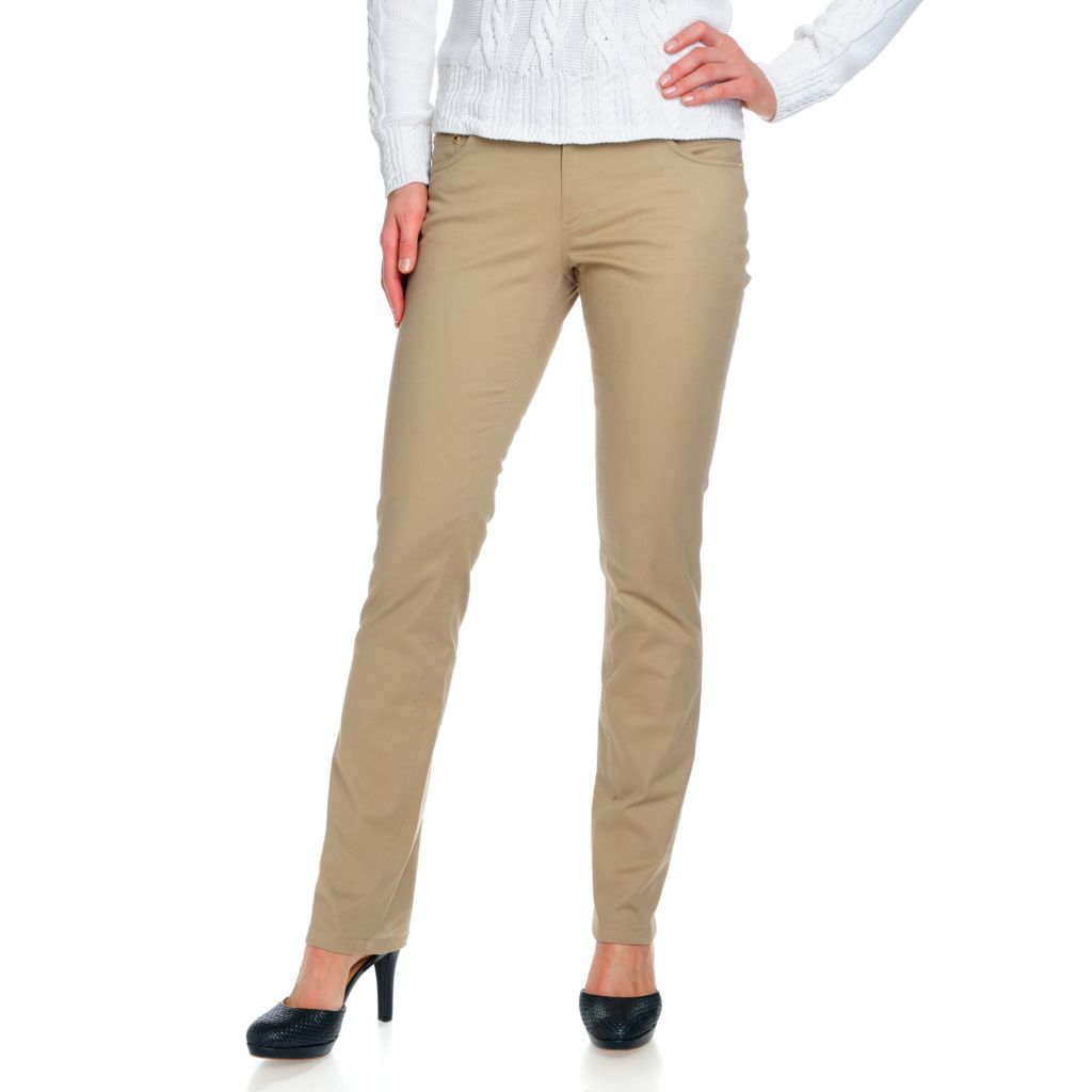 714-640 - Brooks Brothers® Stretch Cotton Full Length Low Rise Slim Leg Pants