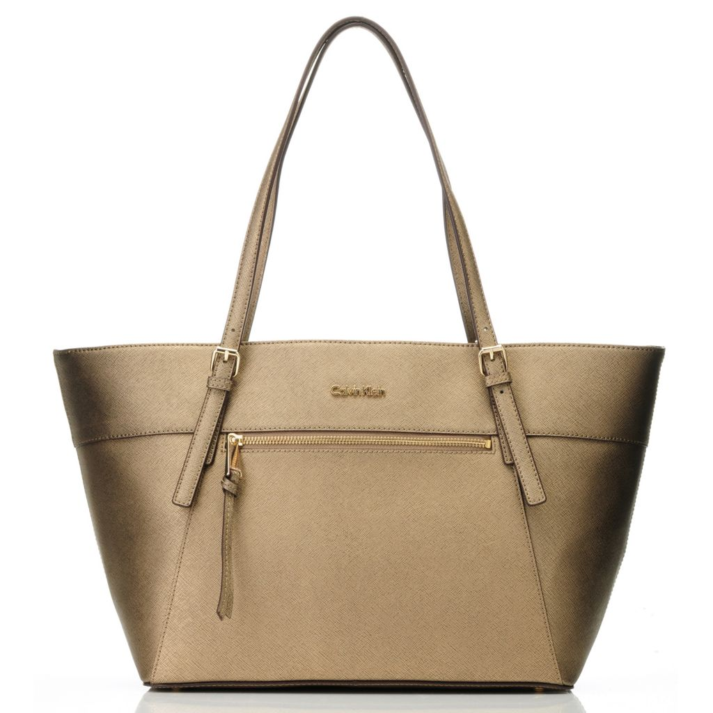 714-726 - Calvin Klein Handbags Saffiano Leather East/West Zipper Tote