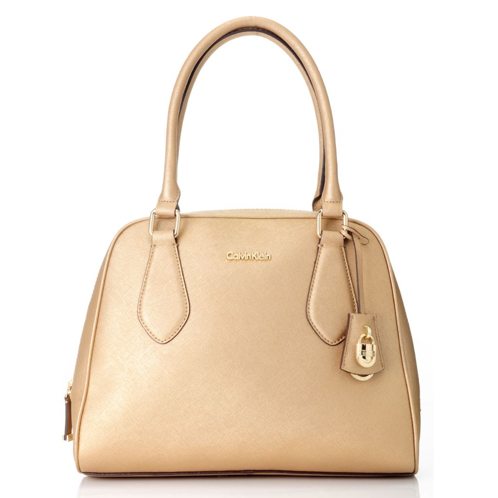 714-730 - Calvin Klein Handbags Saffiano Leather Lock Domed Satchel