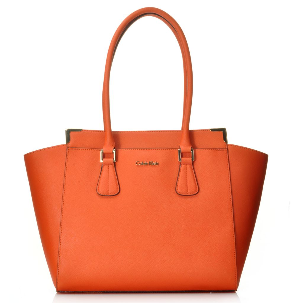 714-732 - Calvin Klein Handbags Saffiano Leather East/West Tote