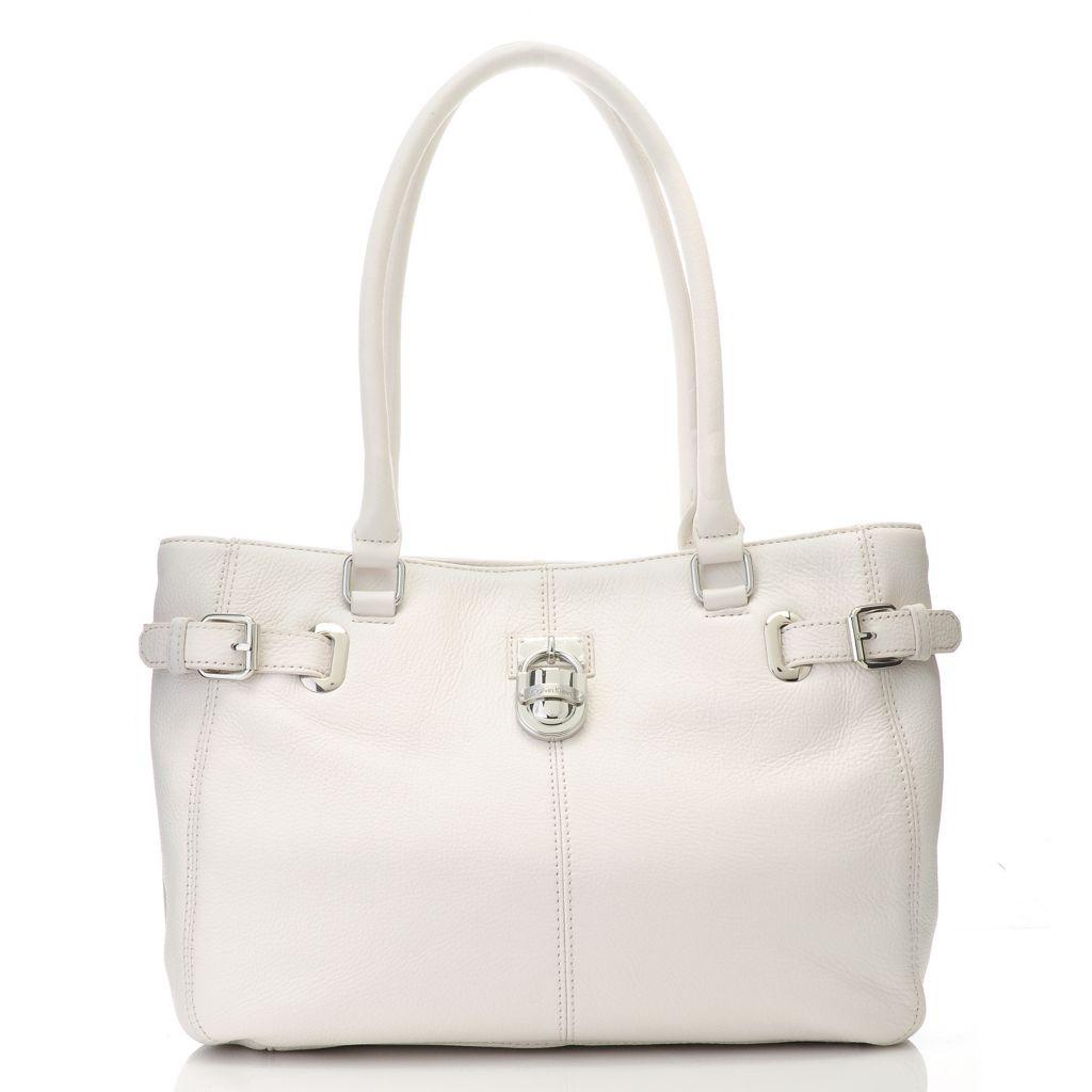714-734 - Calvin Klein Handbags Pebbled Leather Belted Satchel