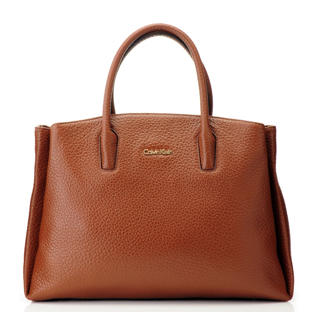 714-735 - Calvin Klein Handbags Pebbled Leather Satchel