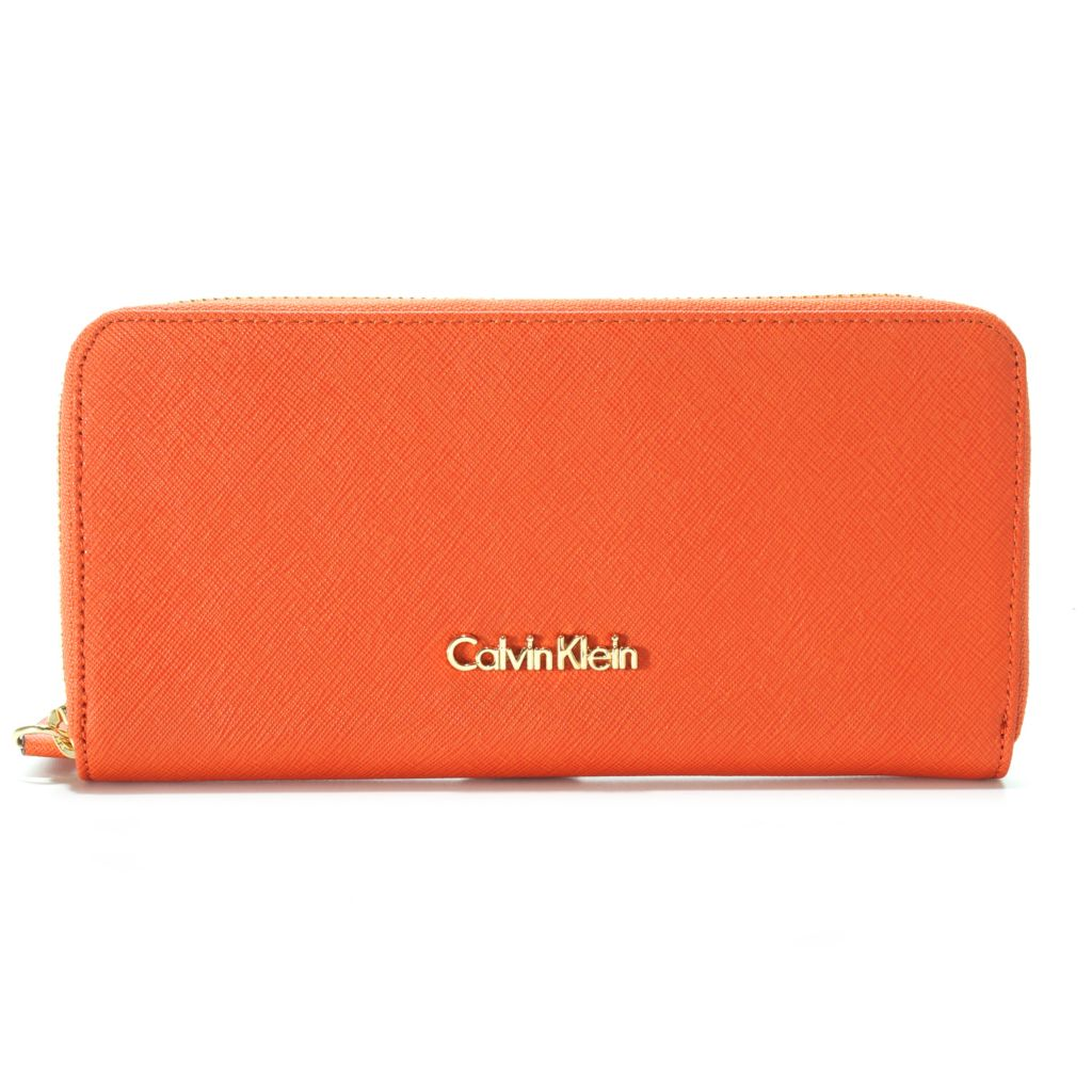 714-739 - Calvin Klein Saffiano Leather Zip Wallet