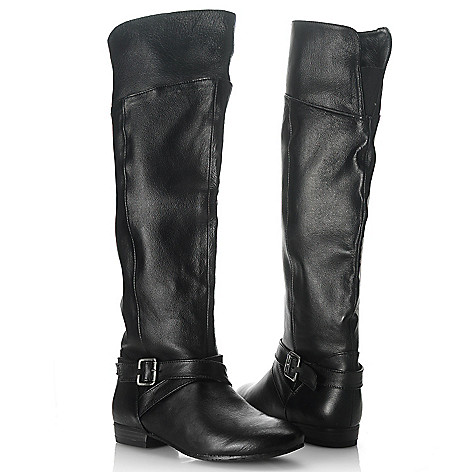 714-766 - Chinese Laundry Leather Buckle Detailed Knee-High Boots