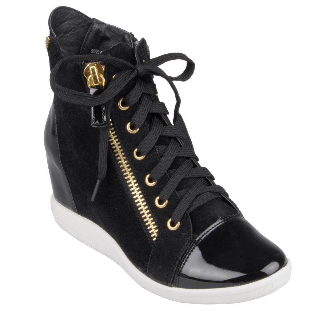 714-846 - Hailey Jeans Co. Women's Lace-up Wedge High Top Sneakers