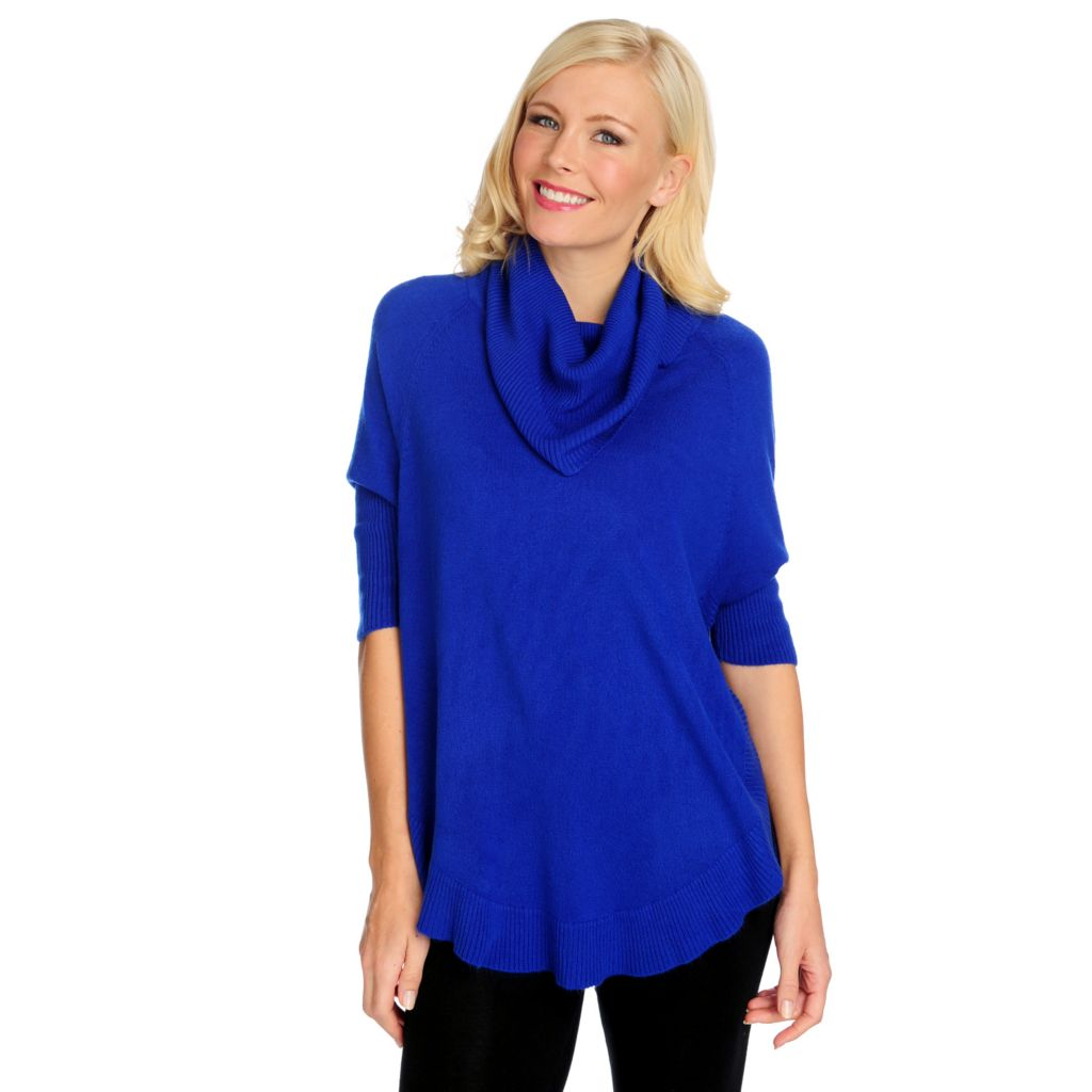 714-852 - Kate & Mallory Soft Knit Cowl Neck Shirttail Hem Tunic Sweater