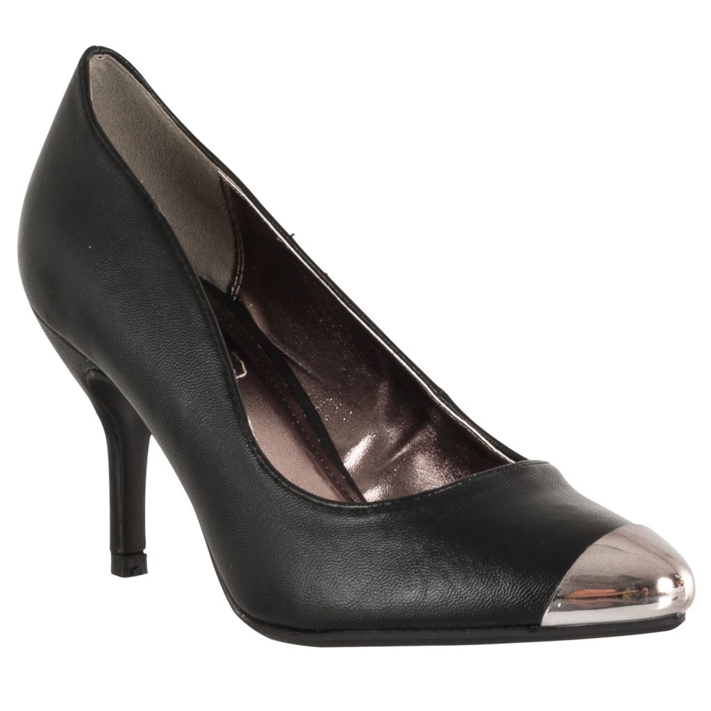 714-865 - Styluxe by Riverberry Women's Deluxe Metallic-detail Cap Toe Stilettos