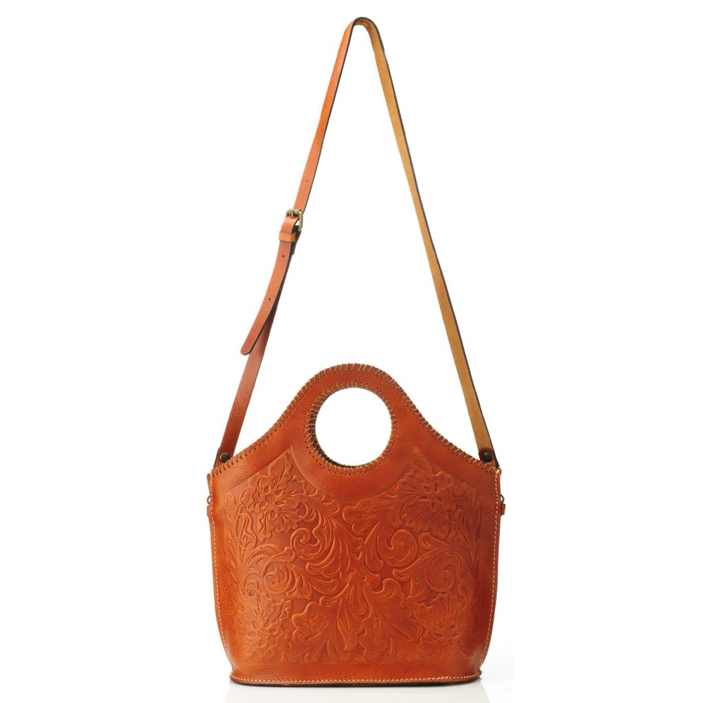 714-875 - Patricia Nash Tooled Leather Handbag w/ Shoulder Strap