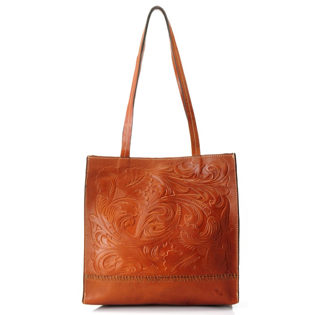 714-876 - Patricia Nash Tooled Leather Double Handle Tote Bag