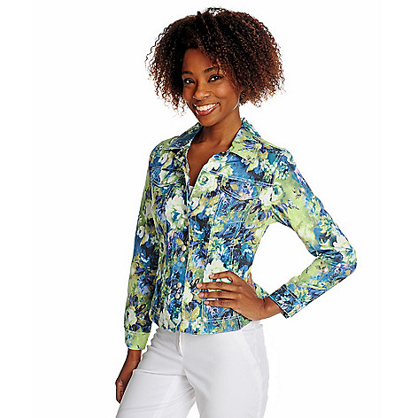 714-920 - OSO Casuals Stretch Twill Long Sleeved Snap Front Printed Jacket