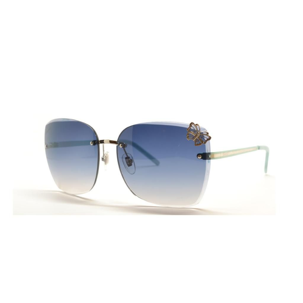 714-939 - Gucci Women's Palladium Rimless Square Designer Sunglasses