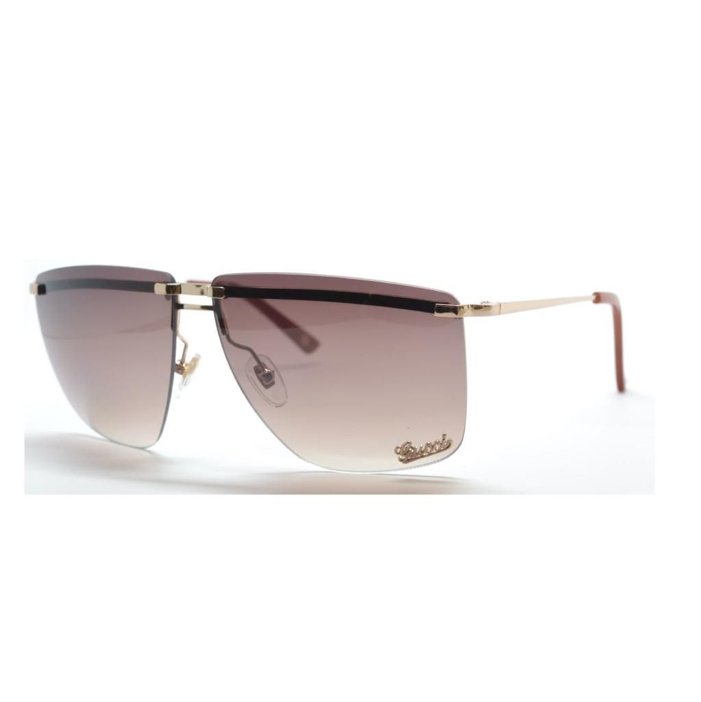 714-941 - Gucci Men's or Women's Rimless Square Designer Sunglasses
