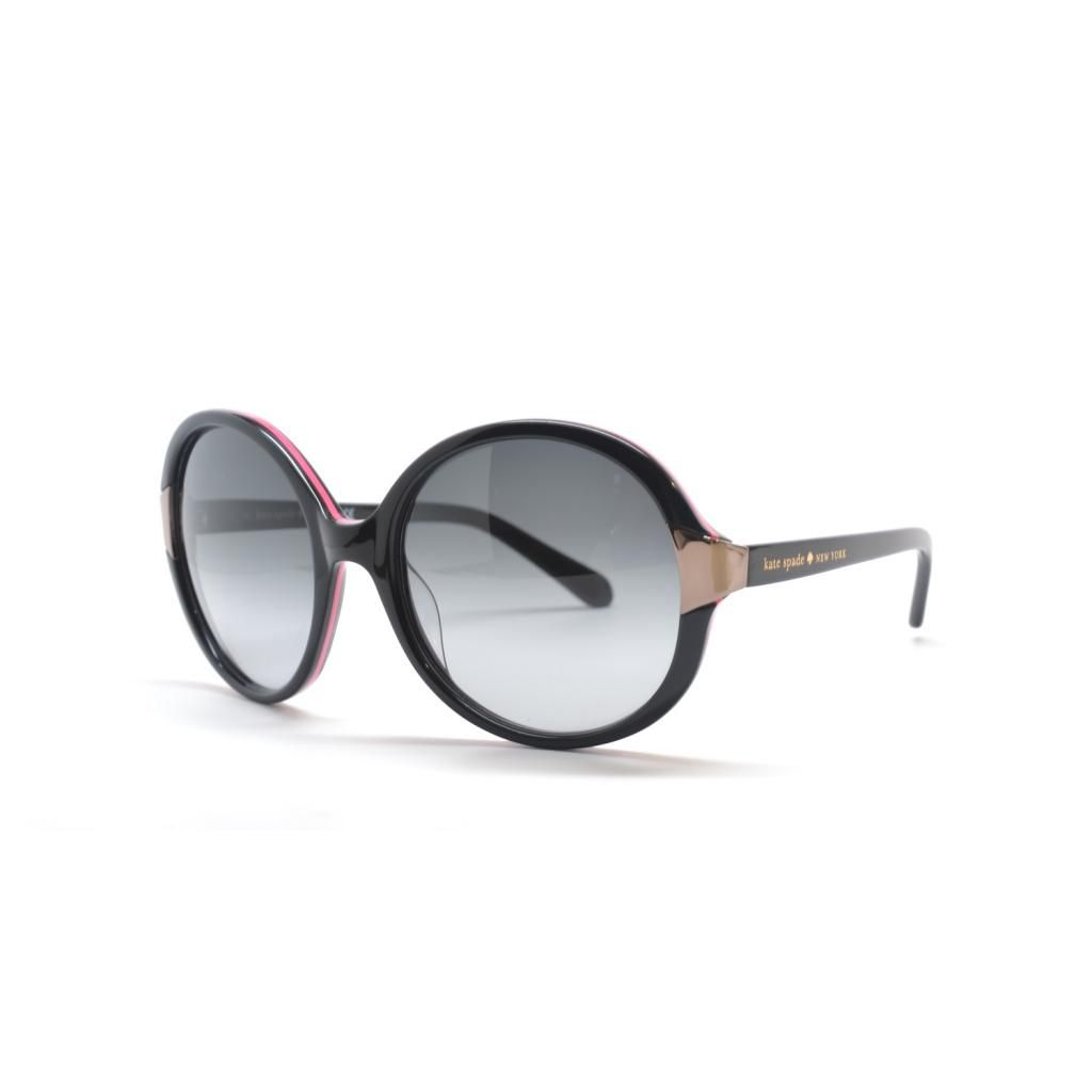 714-972 - Kate Spade Women's Alyx Black & Pink Designer Sunglasses