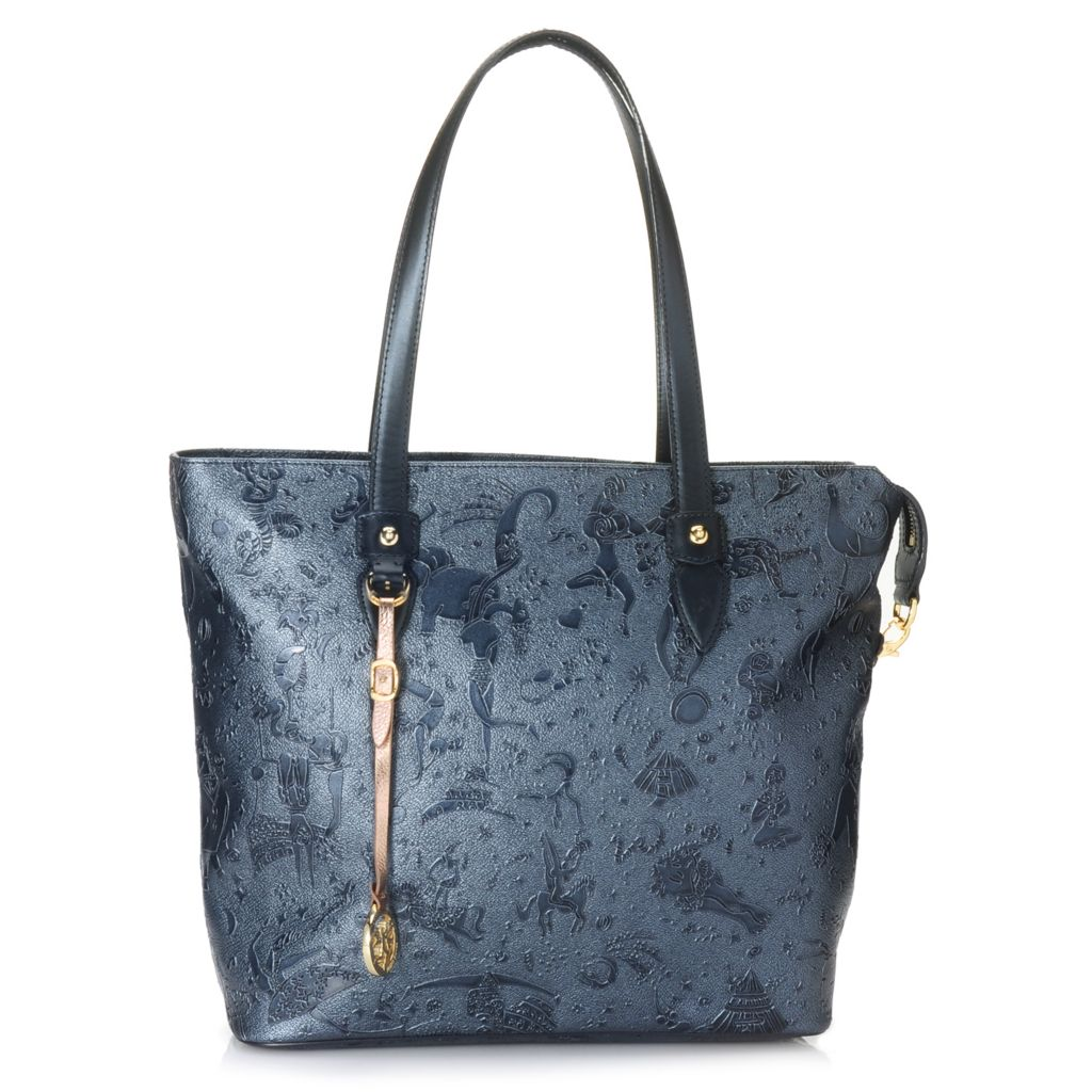 714-991 - Piero Guidi Embossed Magic Circus Golden Age Collection Zip Top Tote Bag