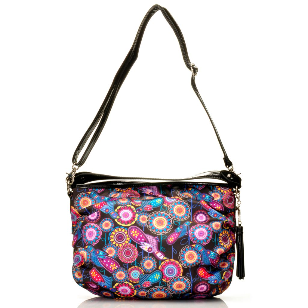 715-000 - BollyDoll™ Printed & Pleated Hobo Handbag w/ Removable Shoulder Strap