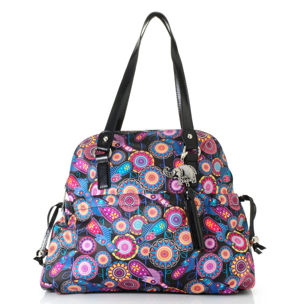 715-001 - BollyDoll™ Printed Double Handle Zip Around Dome Satchel