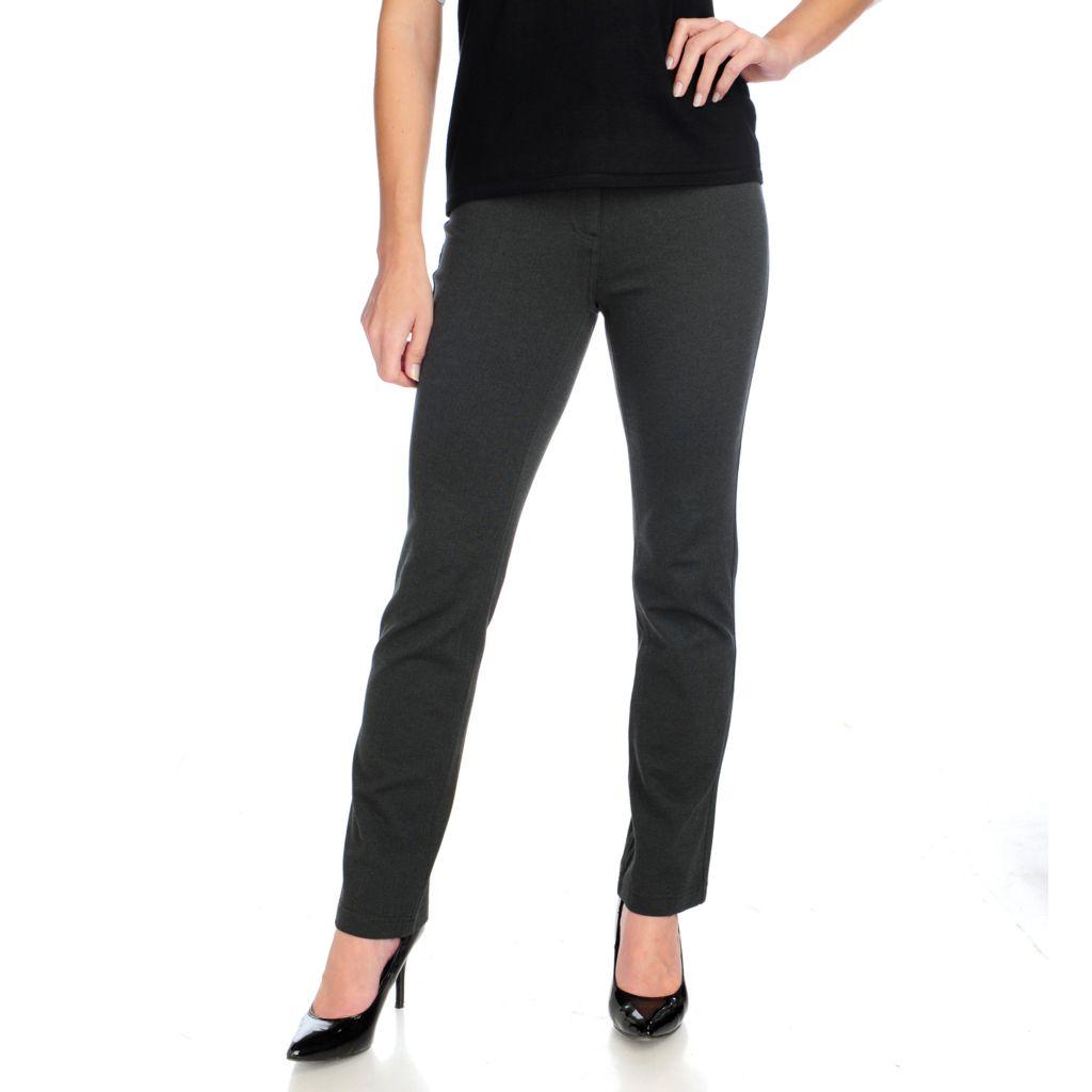 715-005 - Kate & Mallory Ponte Knit Three-Pocket Straight Leg Pants
