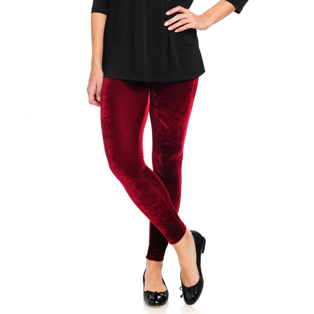 715-022 - WD.NY Velvet Elastic Waist Ankle Length Pull-on Pants