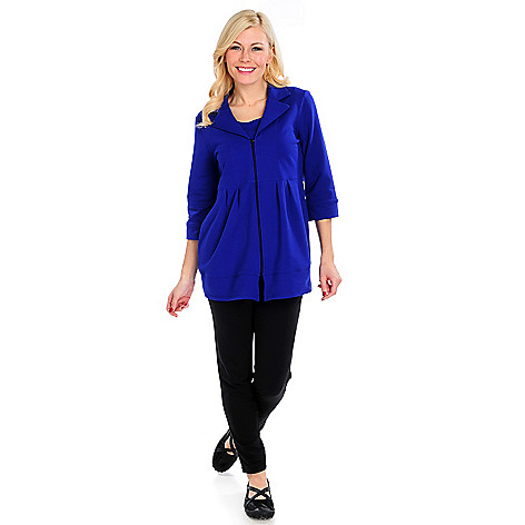 715-026 - OSO Casuals French Terry 3/4 Sleeved Notch Collar Jacket & Leggings Set