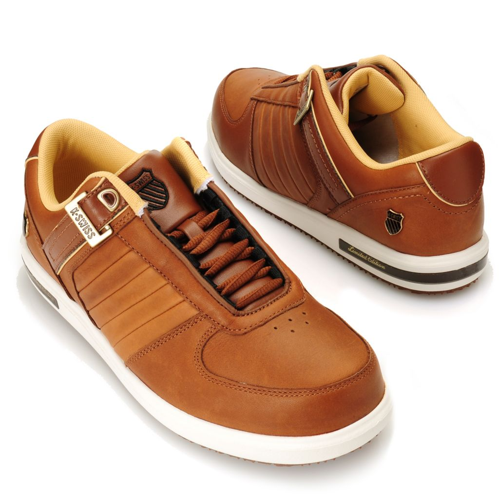 715-060 - K-Swiss® Men's Leather Classic Lace-up Sneakers