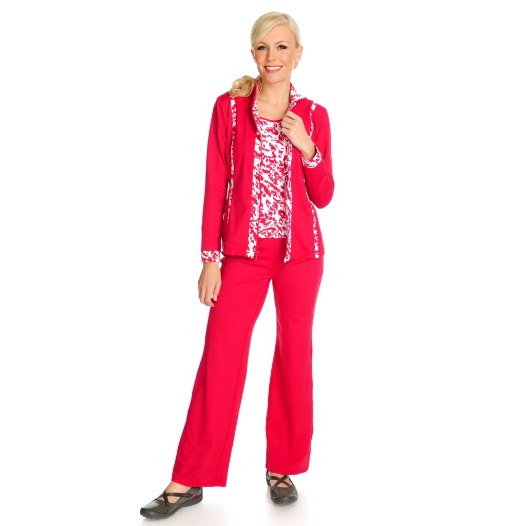 715-070 - Propella™ Stretch Nylon Zip Front Jacket, Pull-on Pants & Tank Set