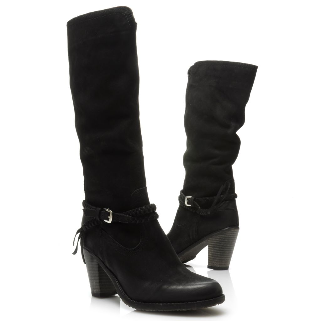 715-112 - Matisse® Leather Braided & Buckle Detailed Tall Boots