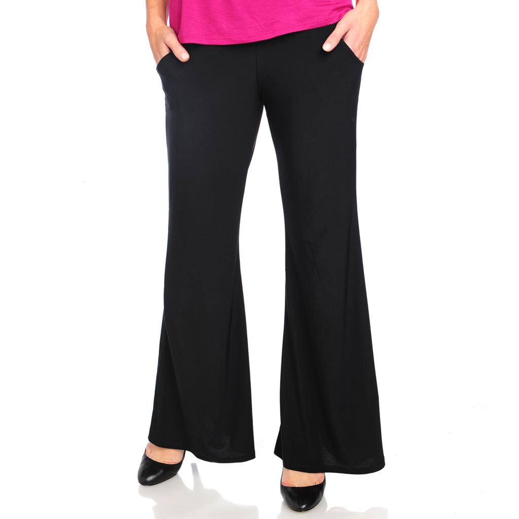 715-119 - Kate & Mallory Stretch Knit Straight Leg Two-Pocket Pull-on Pants
