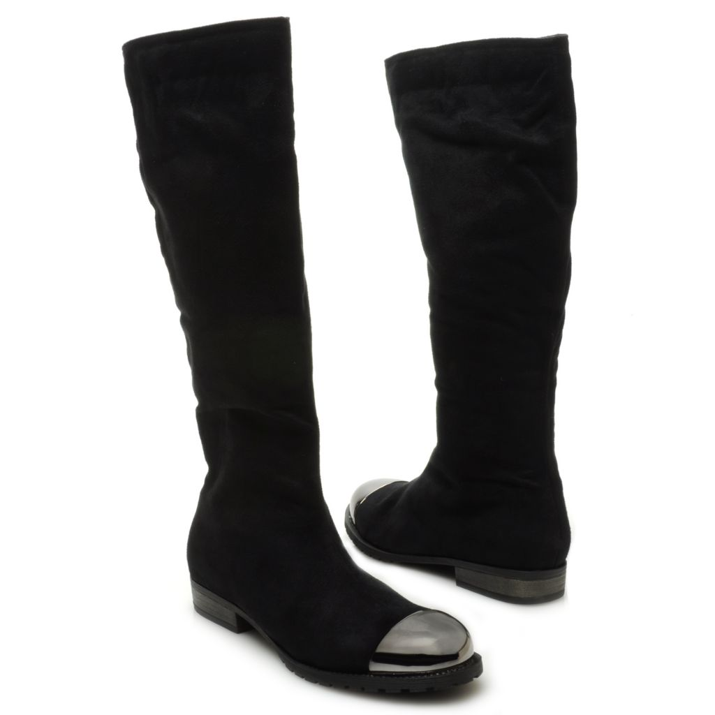 715-121 - Michael Antonio® Side Zip Capped Toe Tall Boots