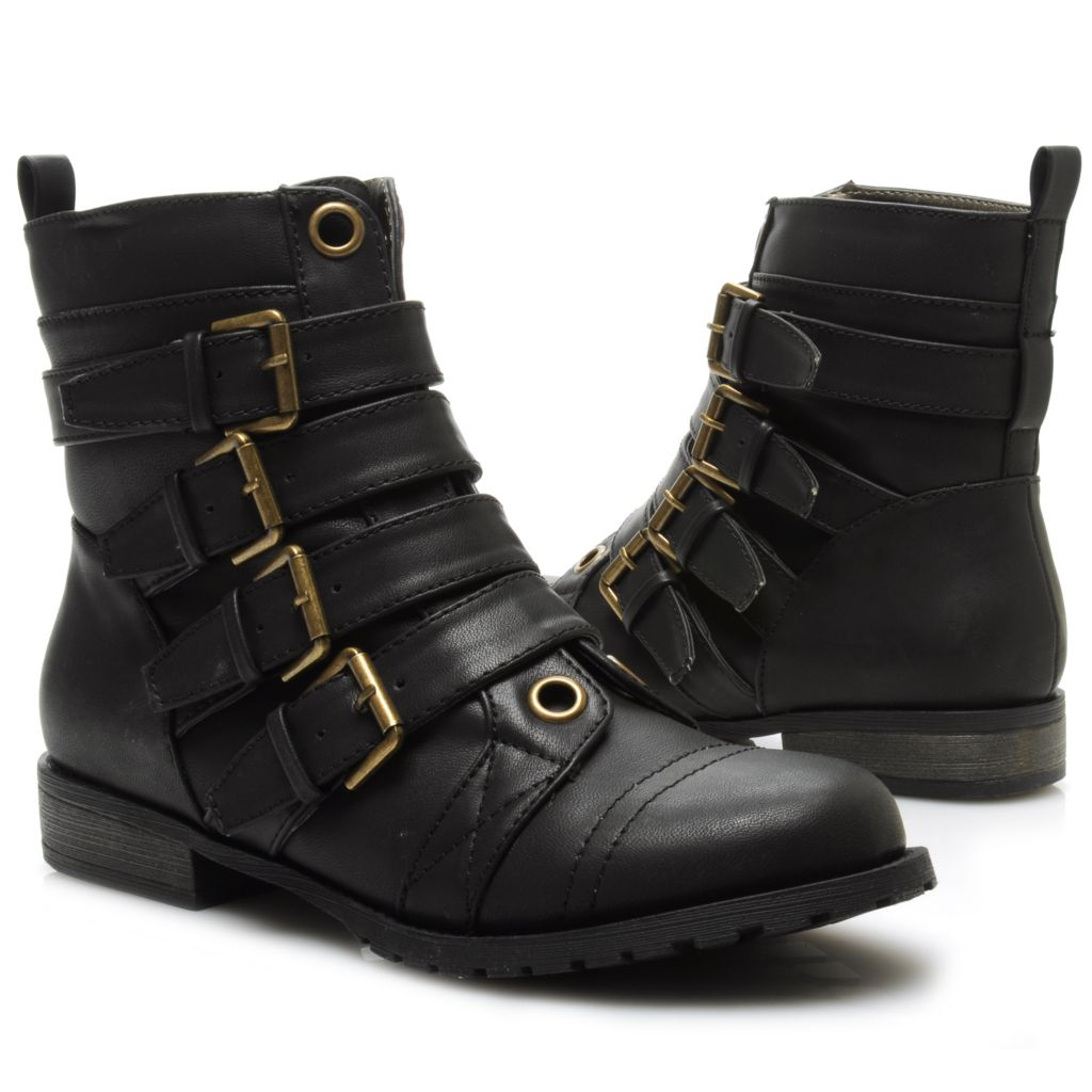 715-123 - Michael Antonio® Belt & Buckle Detailed Ankle Boots