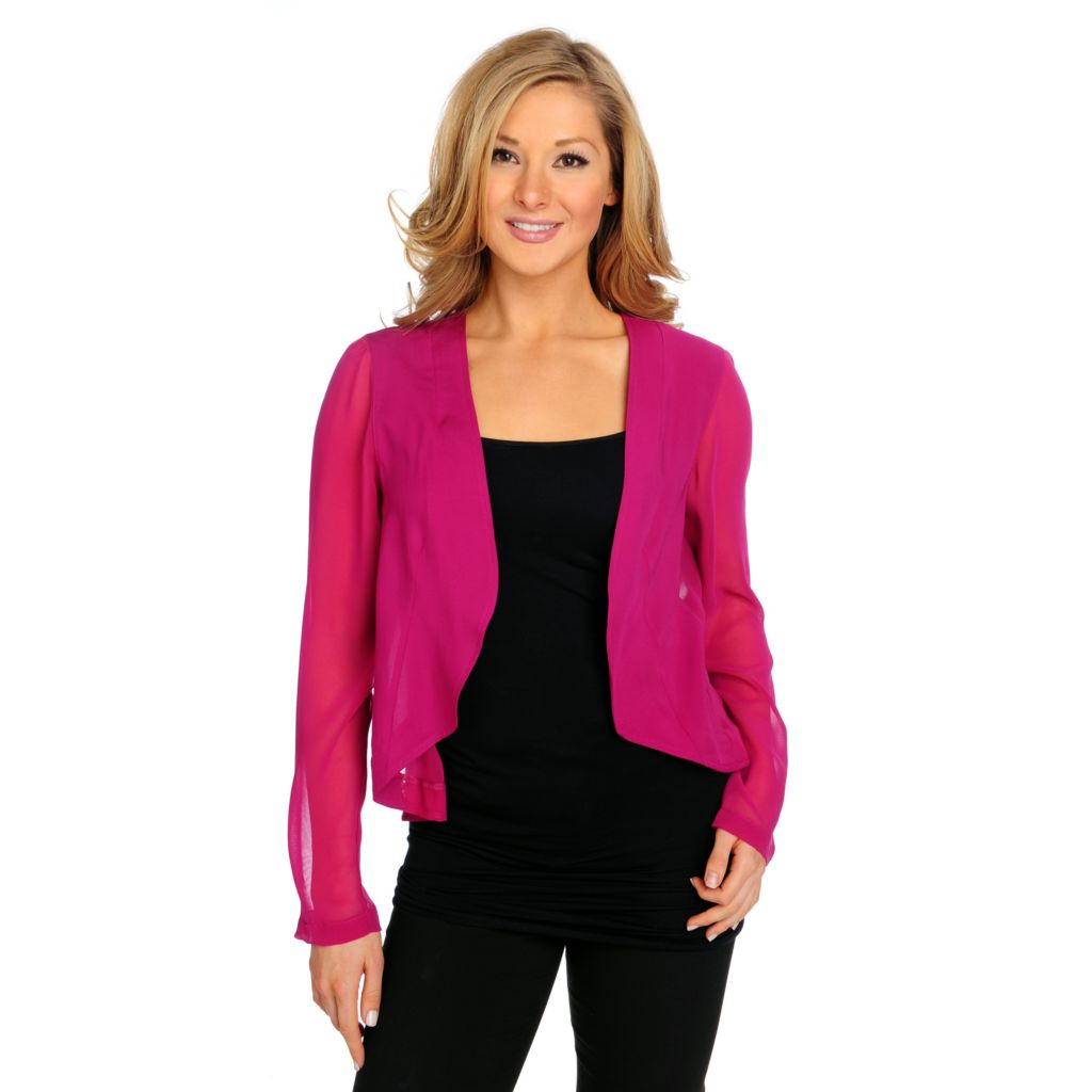 715-204 - Kate & Mallory Challis Long Sleeved Mixed Media Cardigan