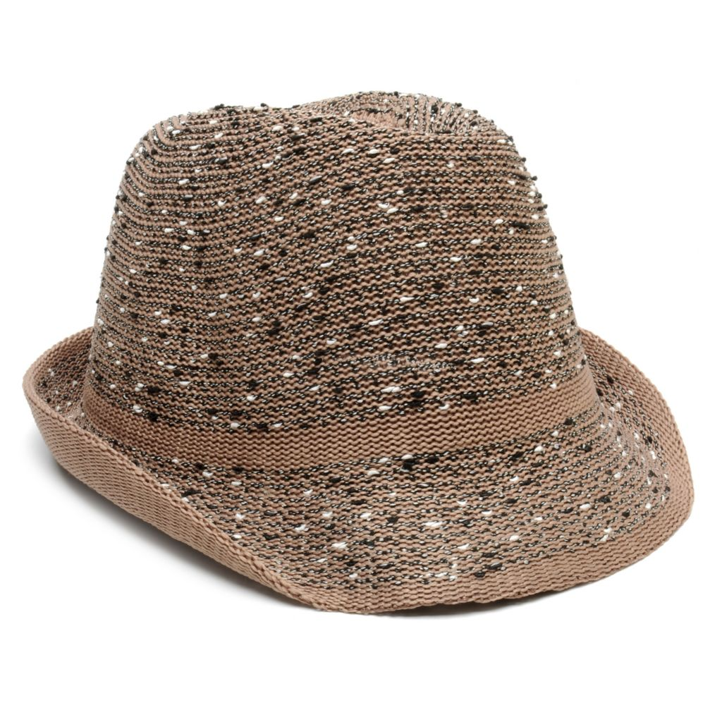 715-217 - Collection XIIX Slubby Knit Multi Color Fedora Hat