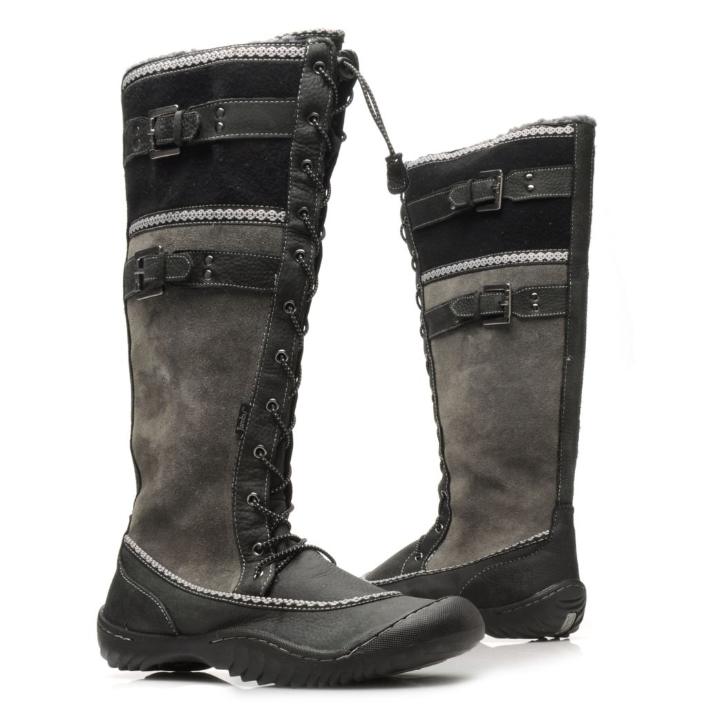 715-228 - Jambu Leather & Wool Memory Foam Tall Boots