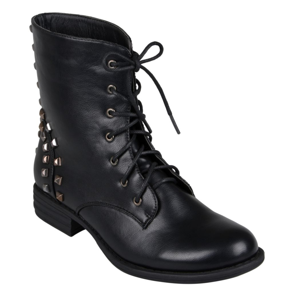 715-255 - Hailey Jeans Co. Women's Lace-up Round Toe Boots