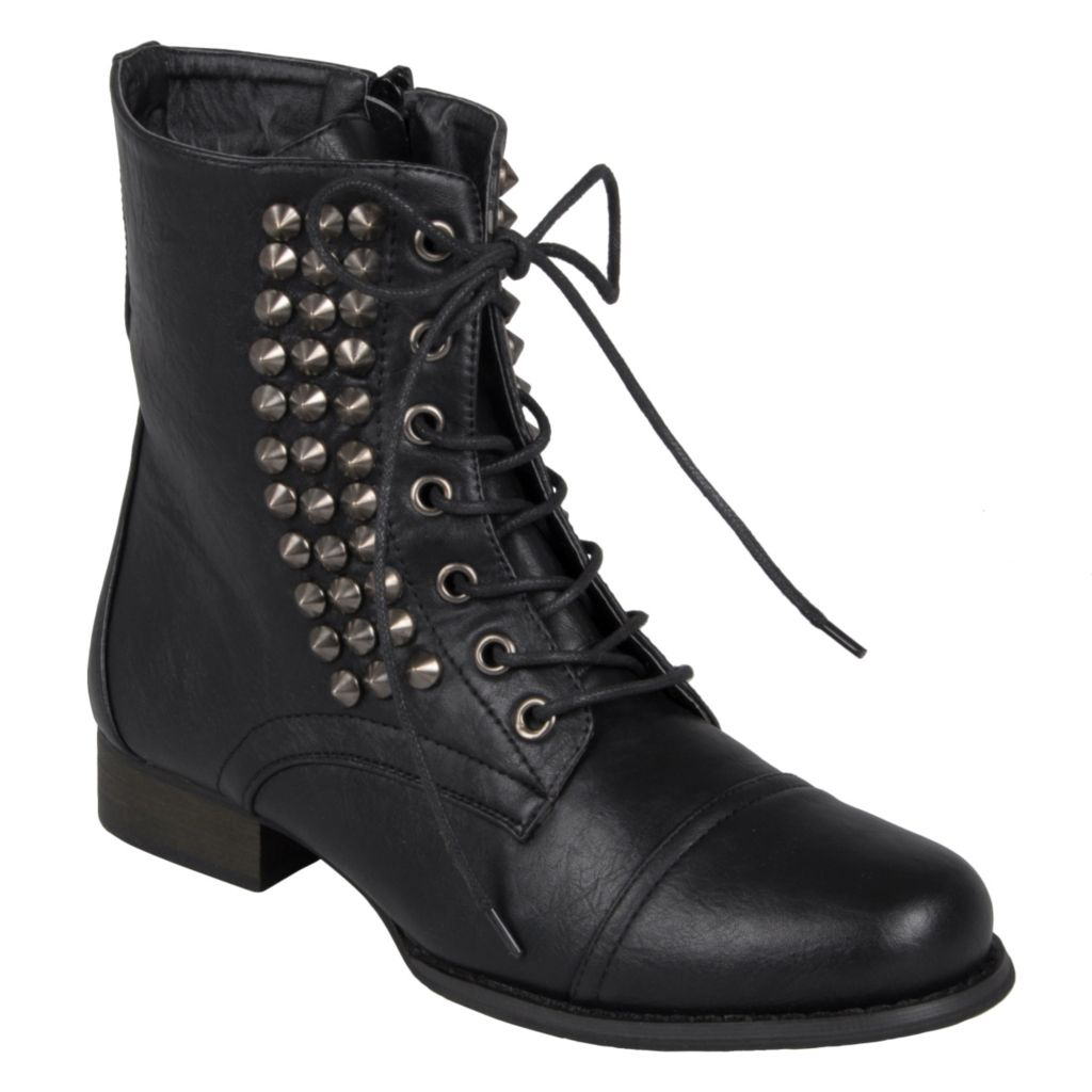 715-256 - Journee Collection Women's Studded Lace-up Boots