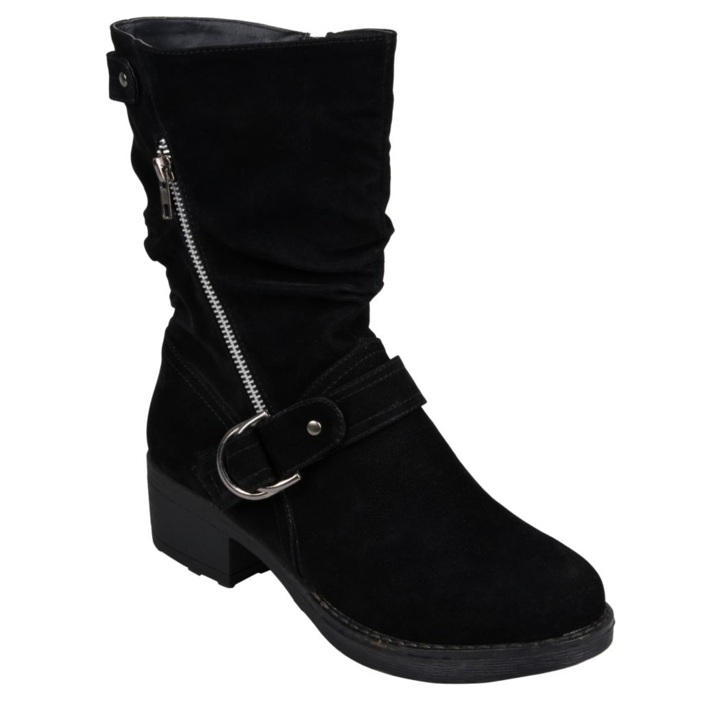 715-260 - Hailey Jeans Co. Women's Zippered Buckle Detail Boots