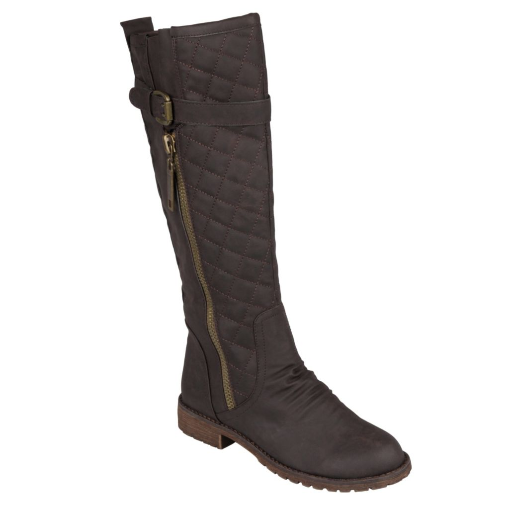 715-270 - Journee Collection Women's Tall Buckle Detail Boots