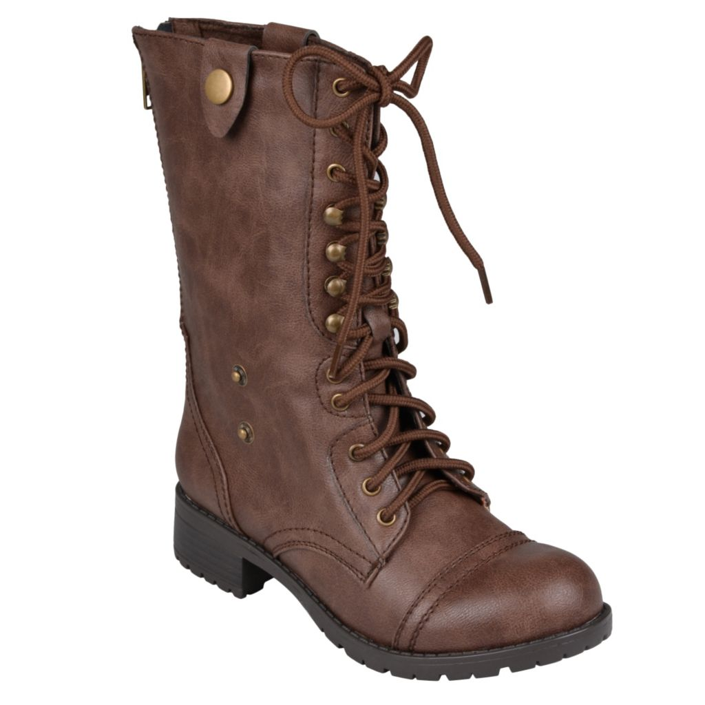 715-273 - Hailey Jeans Co. Women's Lace-up Foldover Boots