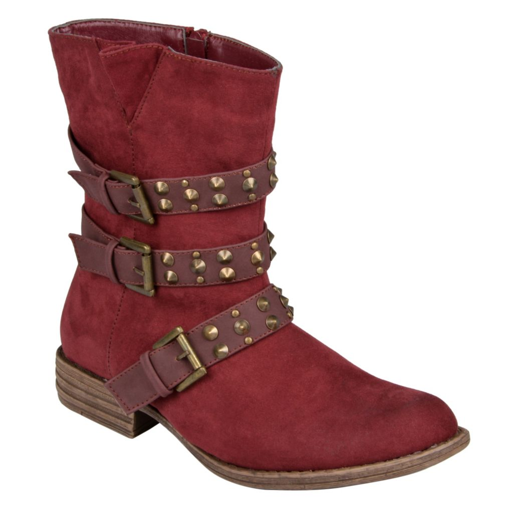 715-295 - Hailey Jeans Co. Women's Studded Buckle Detail Boots