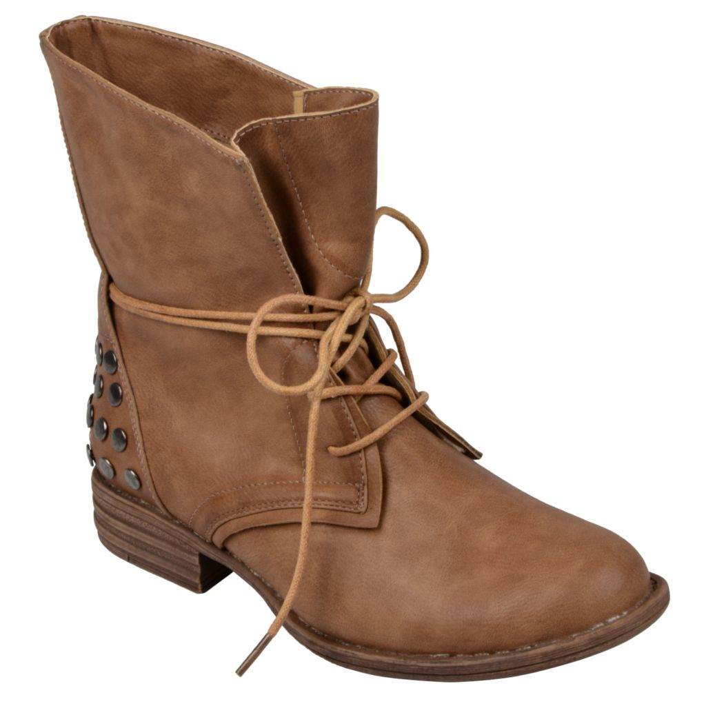 715-298 - Journee Collection Women's Lace-up Round Toe Boots