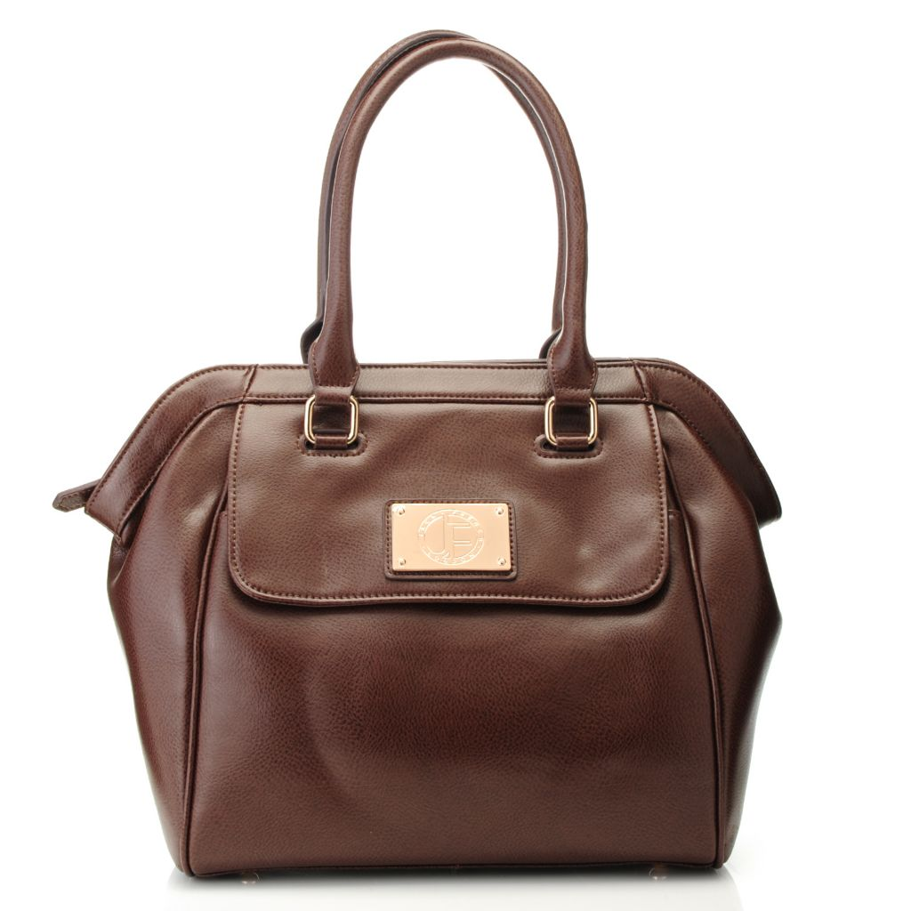 715-306 - Jack French London Grained Leather Double Handle Zip Top Satchel