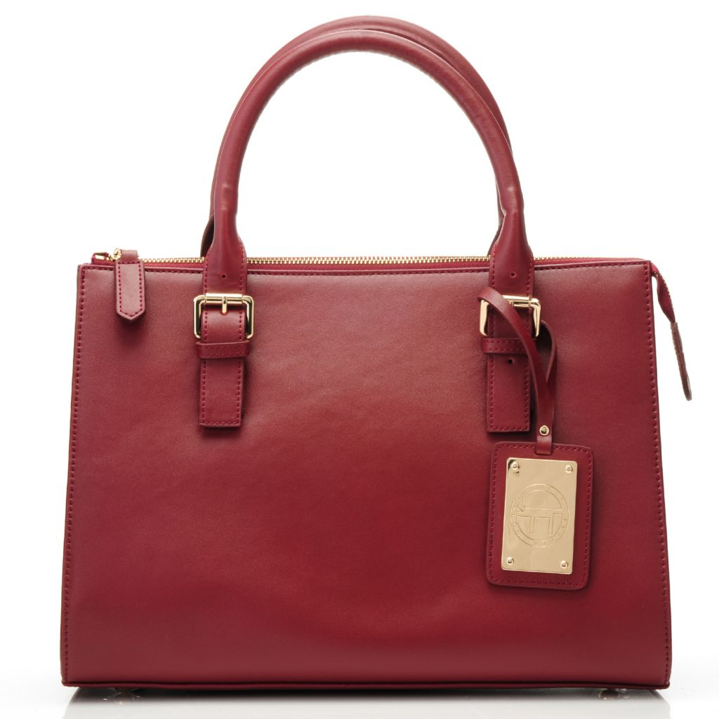 715-311 - Jack French London Smooth Leather Double Handle Zip Top Satchel