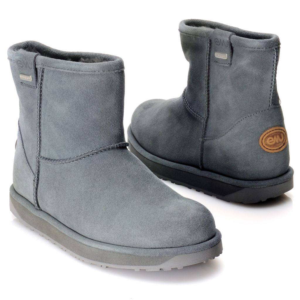 715-339 - EMU® Waterproof Suede Leather & Sheepskin Double Stitched Ankle Boots