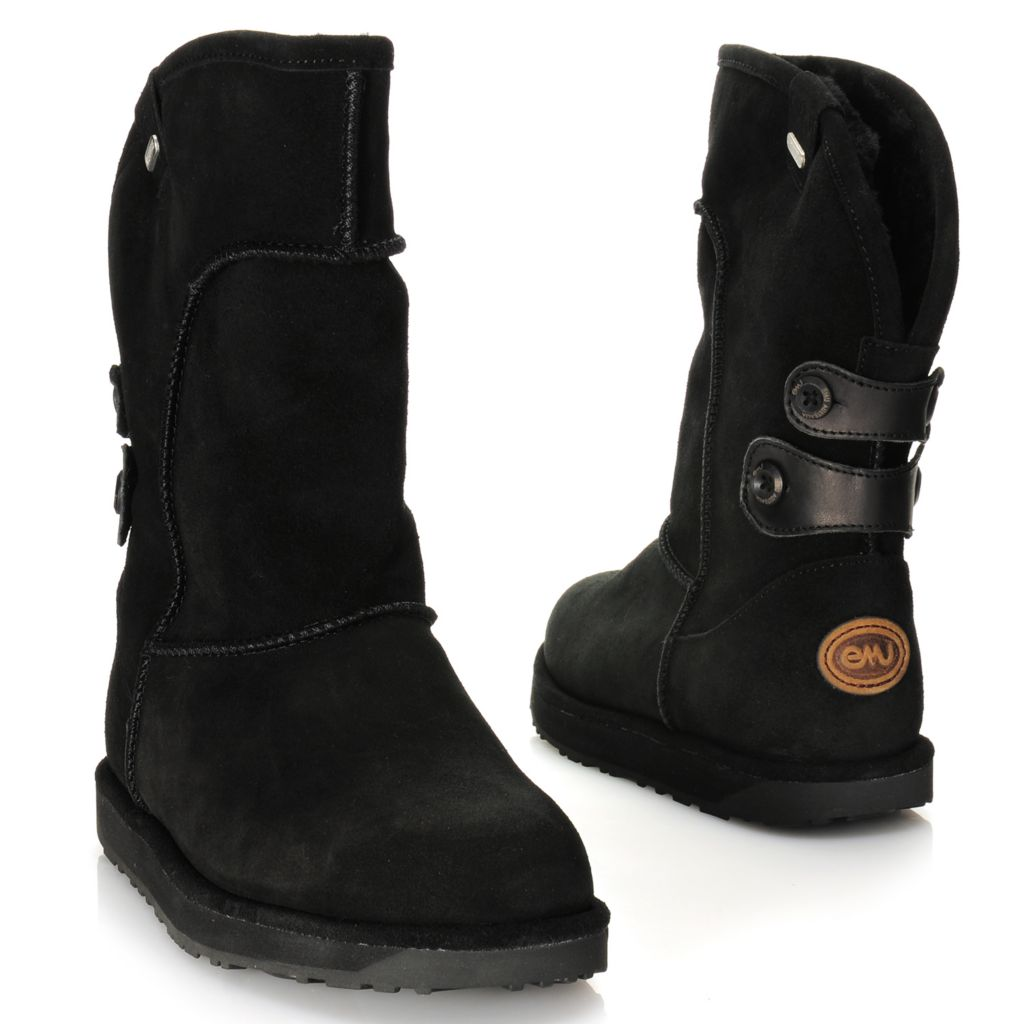 715-342 - EMU® Waterproof Suede Leather & Sheepskin Rear Scallop Mid-Height Boots