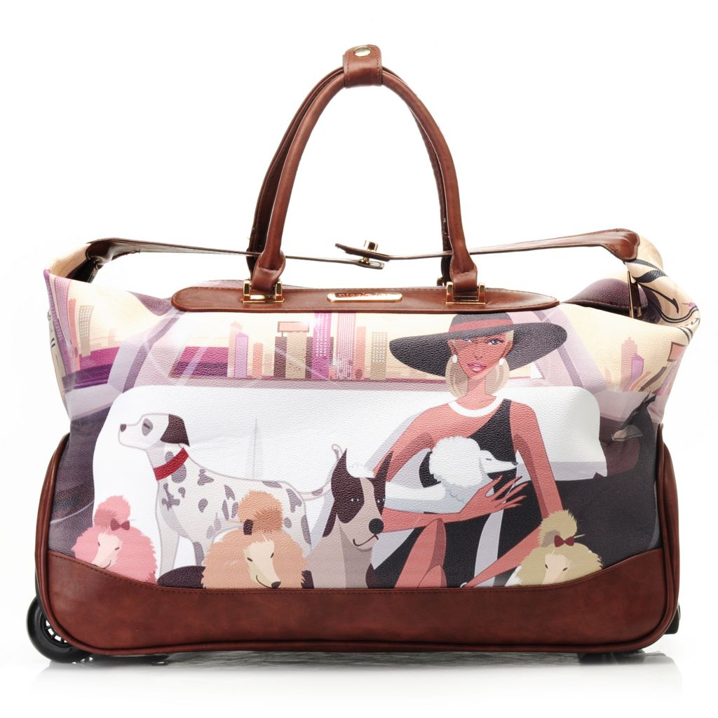 "715-406 - Nicole Lee 20"" Rolling Overnight Duffle Bag"