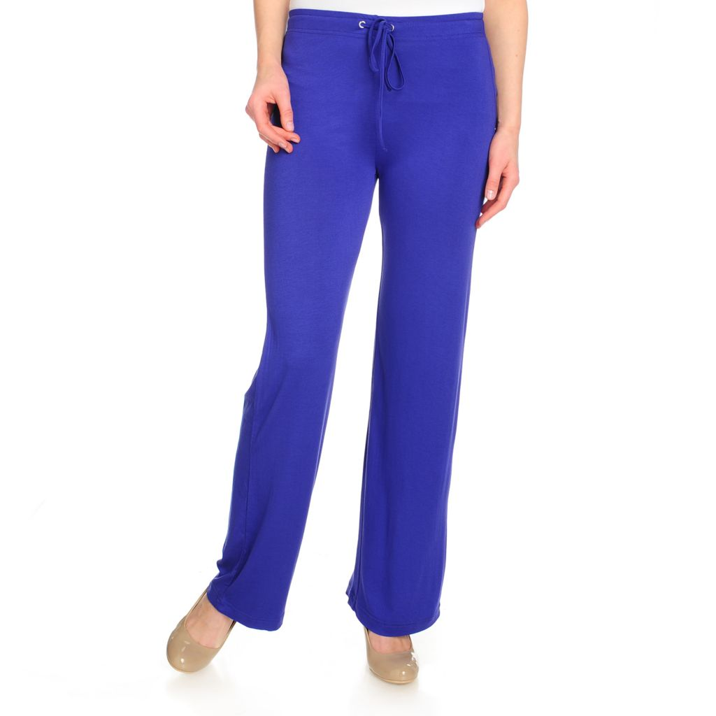 715-454 - WD.NY Stretch Knit Drawstring Waist Wide Leg Pull-on Pants