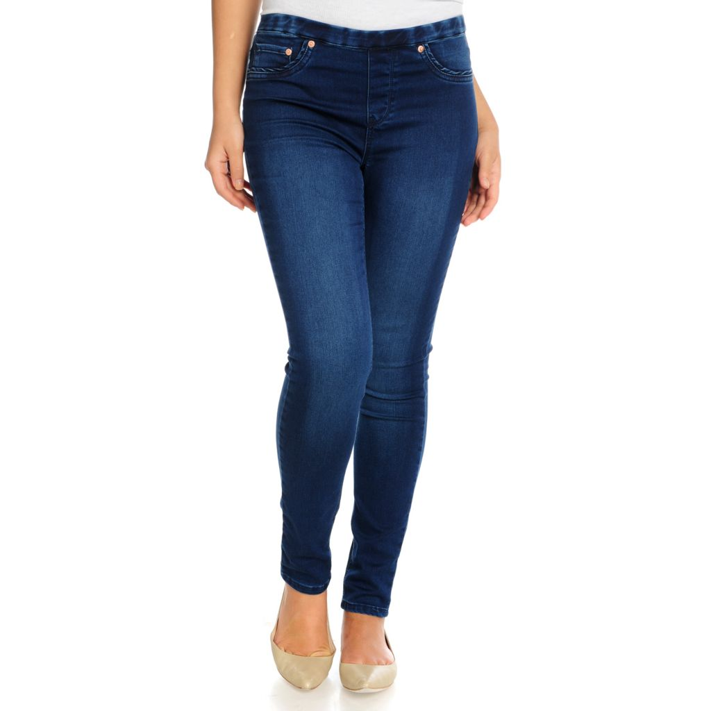 715-463 - WD.NY Stretch Denim Ankle Length Three-Pocket Pull-on Jeggings
