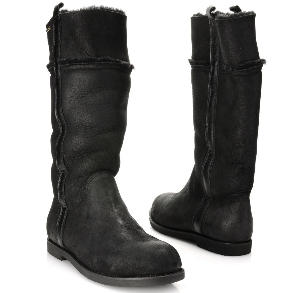 715-475 - EMU® Coated Sheepskin & Waxed Suede Leather Slim-Line Pull-on Boots