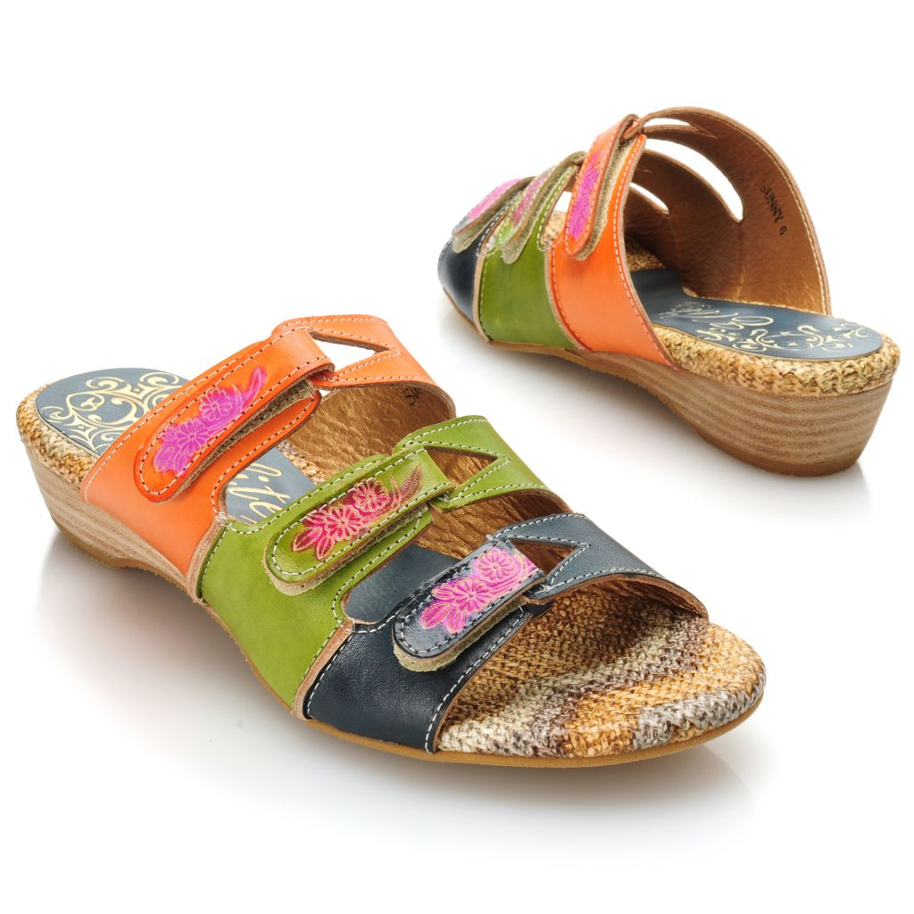 715-506 - Corkys Elite Hand-Painted Leather Slip-on Sandals