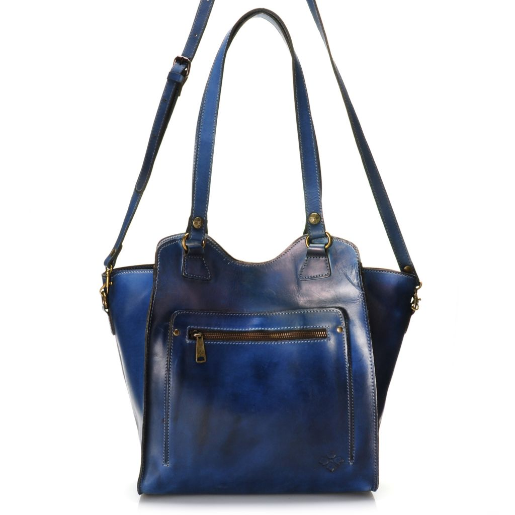 715-540 - Patricia Nash Leather Double Handle Shopper Tote Bag